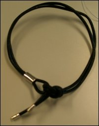 Pure Leather Cord With 925 Silver Ends