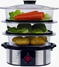 OEM/ODM Stainless Steel Steamer With Durable PC Layer (XJ-5K118CO)