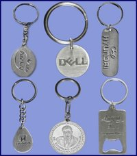 Embossed Stainless Steel Key Chains