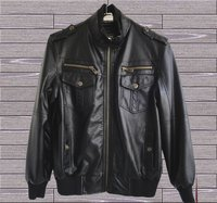 Black Man Pu Leather Jackets