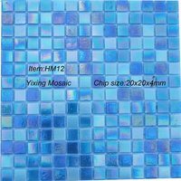 Hot Melting Iridescent Glass Mosaic For Swimming Pool Tile