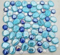 Blue Pebble Glass Mosaic For Swimming Pool, Spa