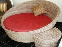 Outdoor Rattan Round Beds