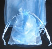 Mixed Colorful 9x6.6inch(23x17cm) Organza Bag Pouch For Gift Jewelery Solid Color