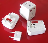 Universal Travel Adapter + USB Socket