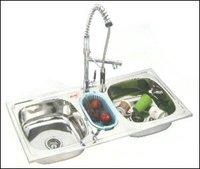 Double Bowl With Mini Bowl Kitchen Sink