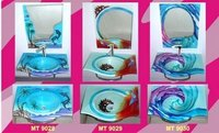 Glass Wash Basin Sets