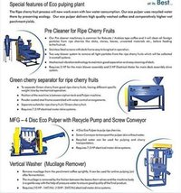 Eco Coffee Pulping Plant Machinery