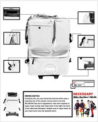 Fashion High Quality PU Trolley Travel Bag