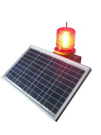 Solar Power Aviation Obstruction Signal Light