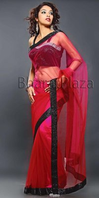 Seductive Maroon And Magenta Saree