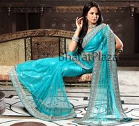 Tempting Diamantes Work Saree