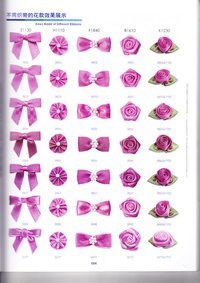 Pink Bows And Flowers Of Satin Tape