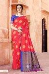 Designer Brasso Net Saree With Shimmer Work