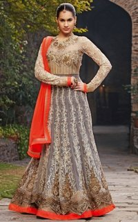 Embroidery Long Anarkali Dresses