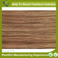 Glossy Wood Grain Membrane Pvc
