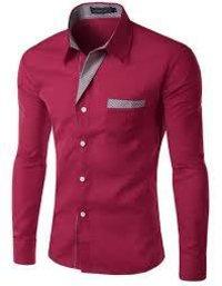 formal tomato cotton shirt