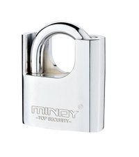 Arc Shape Half Wrapped Beam Alloy Chrome Plated Atomic Padlock