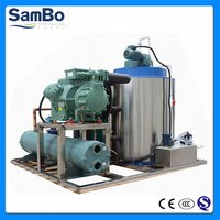 Sambo Ce 3tons Sea Water Flake Ice Making Machine On Fishing Boat
