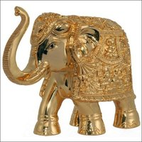 24 K Gold Decorative Elephant Statues
