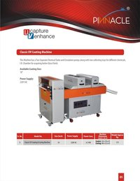U V Coating And Curing Machine