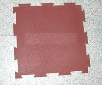 Rubber Interlocking Tile