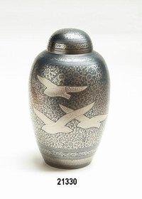 Bird Going Home Brass Cremation Urn