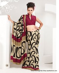 Ladies Crepe Jacquard Saree