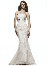 Charming Strapless Embroidery Mermaid Wedding Dress Bridal Gown