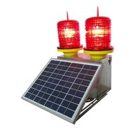 LED Solar Power Aviation Obstruction Light