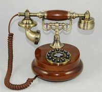 Wood And Brass Telephone