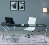 Modern Office Glass Computer Desk