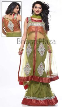 Fabulous Olive Green Lehenga