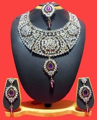 Delightful Purple Necklace Set
