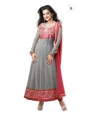 Party Wear Green Anarkali Suit With Discount