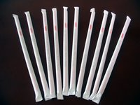 Poly Paper Packaged Drinking Straws