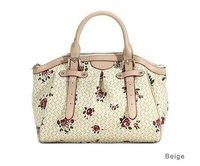 Rose PU Leather Woman Handbag Shoulder Bag