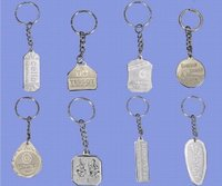 Single Embossed Key Chains