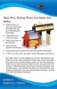 Three Pass, Package Water Cum Smoke Tube Boiler