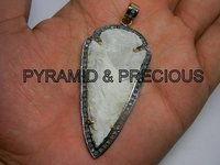 Arrowhead Pendant With CZ