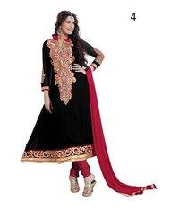 Festive Black Solid Salwar Kameez