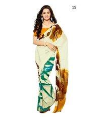 Daily Wear Cream Saree