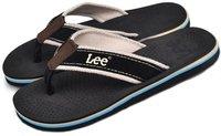 Men's Genuine Leather Tape Rubber Sole Flat Flip Flop Slippers