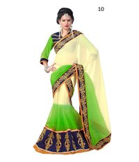 Party Wear Chiffon Lehenga Saree