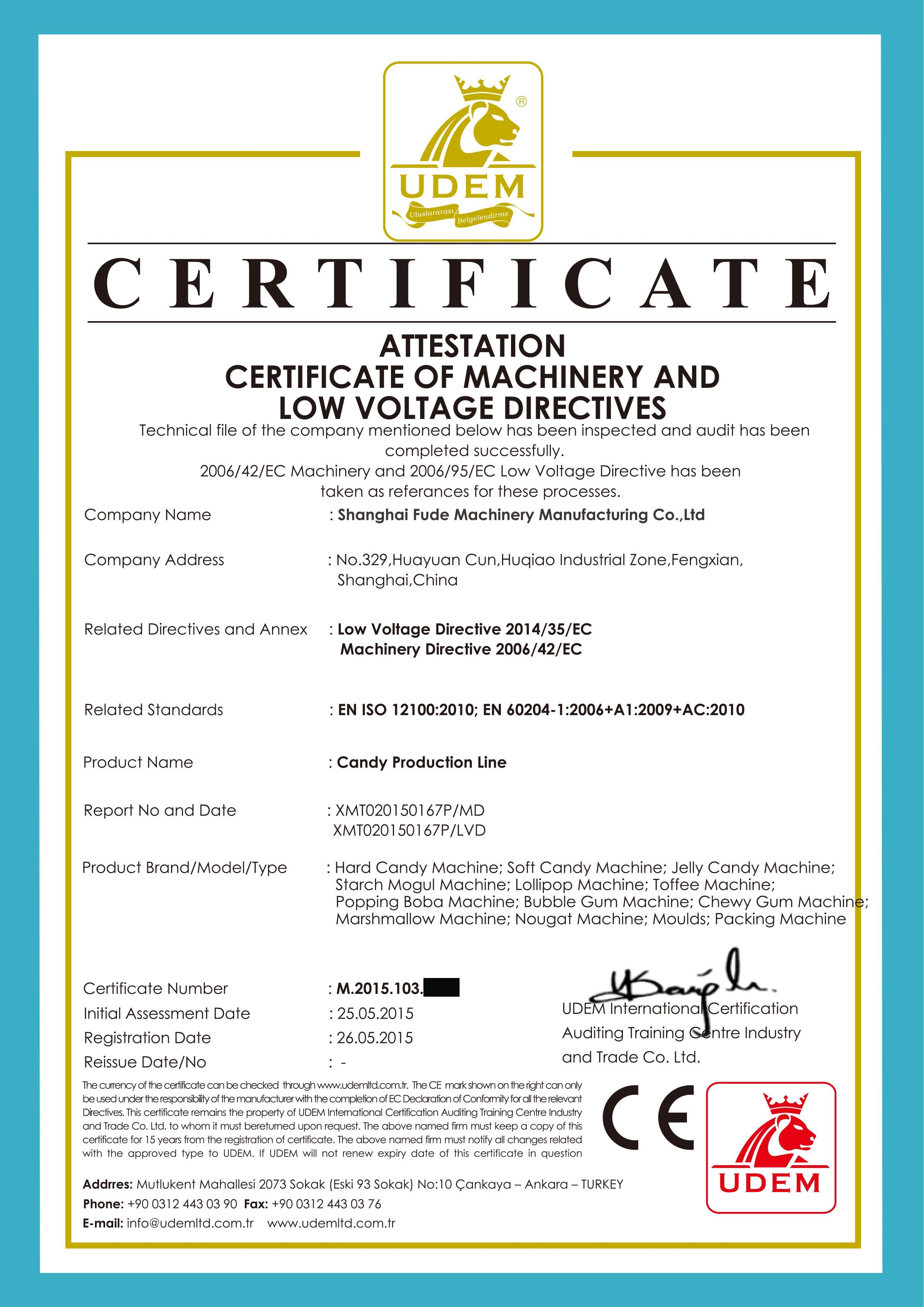 Our certification shanghai fude machinery manufacturing co ltd 1betcityfo Image collections