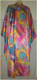 Satin Printed Kaftan