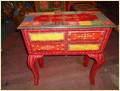 Wooden Painted Study Table 4 Drawer