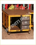 Iron Wooden Tv Unit