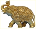 Hand Carved Brass Royal Indian Elephant Statue