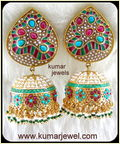 Long Enamel Earrings